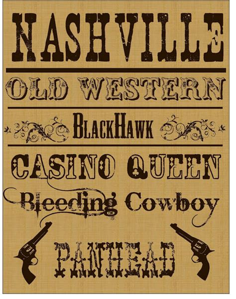 printable western font letters my idea of home