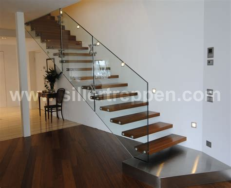 Wood And Glass Banister by Cantilevered Stairs Staircase123
