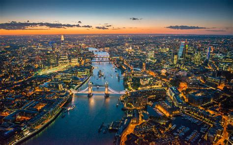 aerial photographs   london river thames  hd