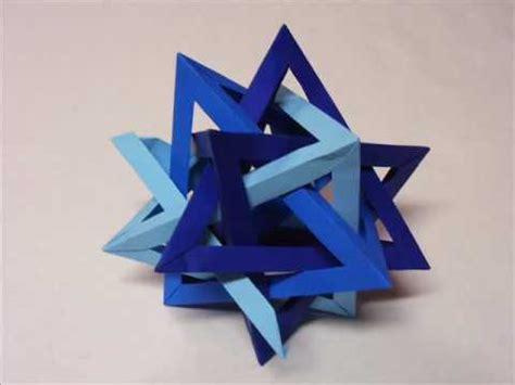 Tetrahedra Origami - rotating origami tetrahedra doovi