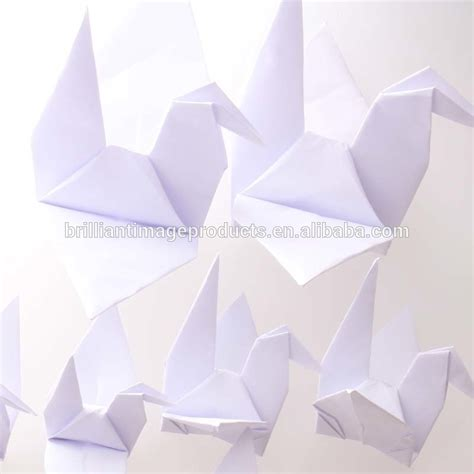 Buy Origami Cranes - artificial wedding decorative hanging white color origami