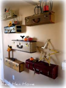 Cool Shelves Ideas by Diy Idea Turn Vintage Suitcases Into A Unique Shelf Wall