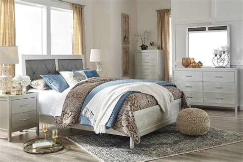 Olivet Bedroom 5pc Set B560 In Silver Finish By Ashley | olivet bedroom 5pc set b560 in silver finish by ashley