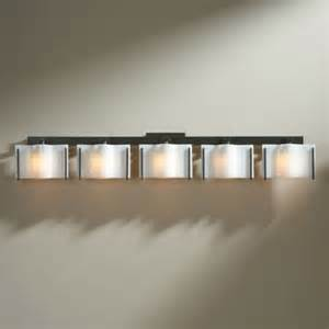 hubbardton forge exos wave 5 light bath bar modern