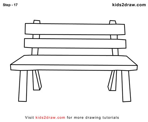bench outline free coloring pages of bench