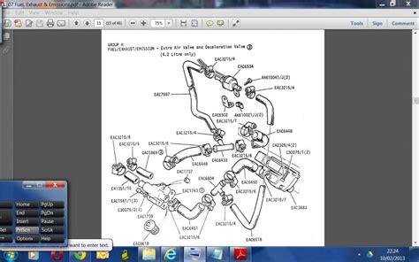 wiring schematic 1985 86 series 3 extra air valve jaguar