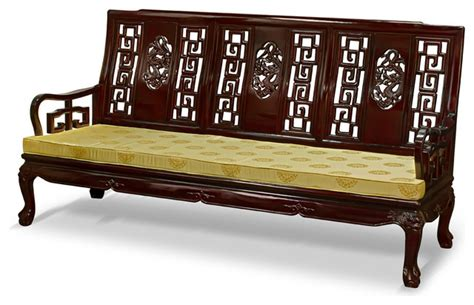 asian sofa furniture rosewood imperial dragon design sofa asian sofas by
