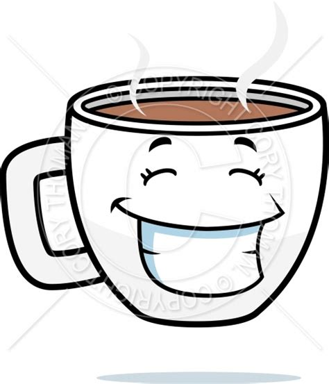 coffe cups cartoon coffee cup smiling vector and royalty free license