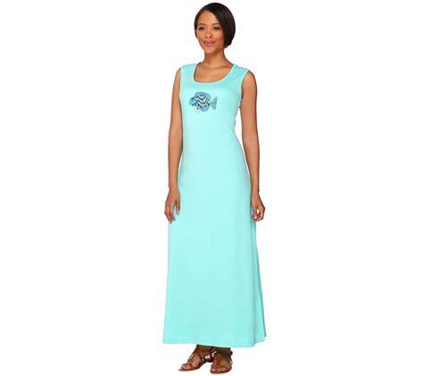 Maxi Motif quacker factory regular sleeveless maxi dress with sequined motif page 1 qvc
