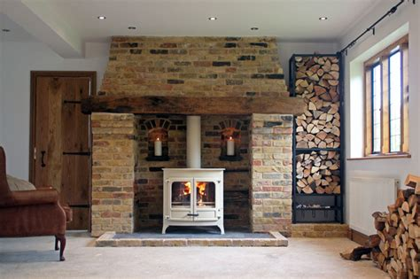 Most Popular Interior Design Blogs charnwood island 3b wood boiler stove with reclaimed brick