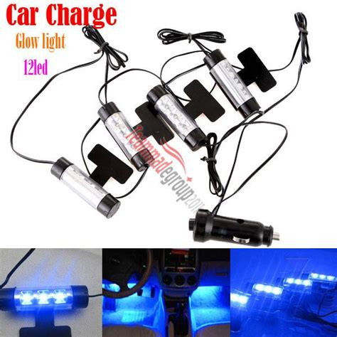 4 X 3led Car Charge Interior Accessories Atmosphere L Floor Decorat find 4x 3led car charge 12v glow interior decorative 4in1 atmosphere floor light l motorcycle