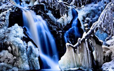 hd icy falls wallpaper