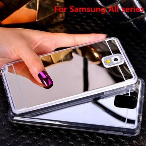 Kp368 Soft Anticrack Ultrathin Samsung Galaxy S7 Je Kode Tyr424 luxury mirror tpu cases electroplating soft silicone bumper shell back cover for samsung
