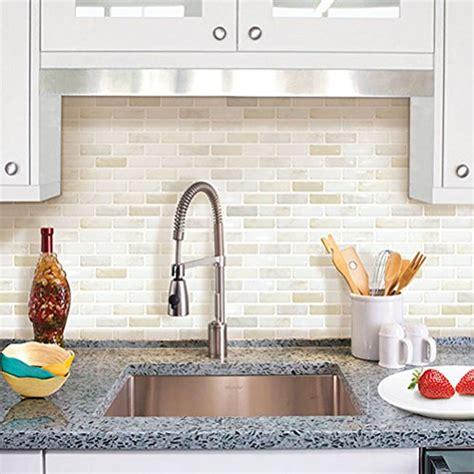 Wk Wallpaper Sticker Thin White Brick beaustile white brick mosaic 3d wall sticker home decor retardant backsplash wallpaper
