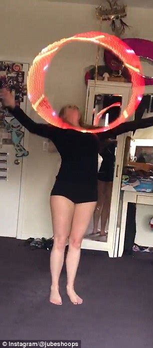 light up hula hoop dance julie zats performs light up hula hoop show daily mail