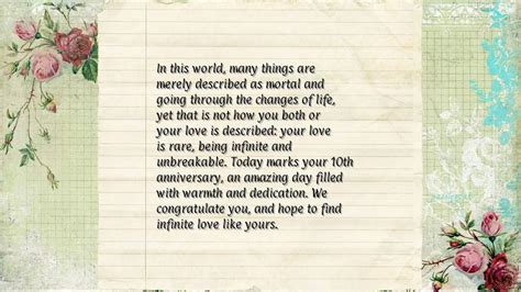 ten year wedding anniversary quotes quotesgram