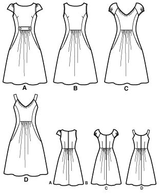 pattern cutting made easy review simplicity 2591 misses dresses threads collection
