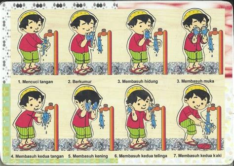 Wudhu Puzzle sell ablution sticker puzzle from indonesia by toko mainan kayu cheap price