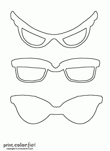 eyeglass template free coloring pages of sunglasses template