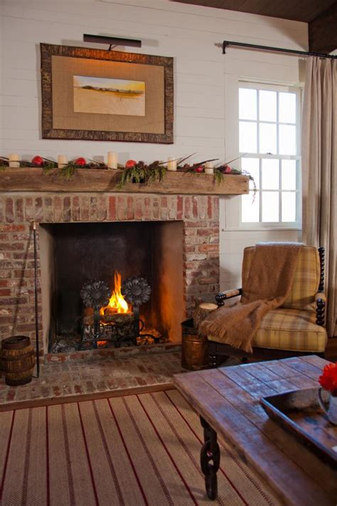 Farmhouse Fireplace by Photo Page Hgtv