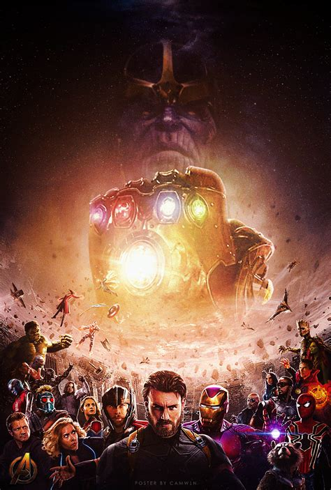 urutan film marvel heroes a fan made poster for avengers infinity war by camw1n