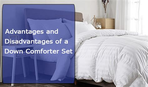 choosing a down comforter advantages and disadvantages of a down comforter set