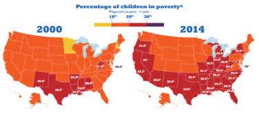 us poverty map by county growth in child poverty mapped by county in the 50 states