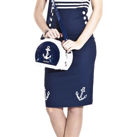 collectif anchor sailor nautical rockabilly pinup fitted