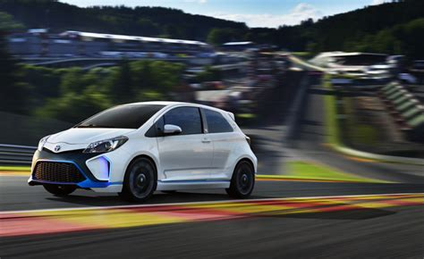 Toyota Hybrid X Concept Hits The Showroom by Toyota Yaris Hybrid R Concept Hits The Track At Spa