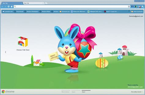 theme google chrome rabbit celebrate easter with easter chrome themes and android