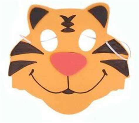 How To Make A Tiger Mask Out Of Paper - foam tiger mask low cost fancy dress headgear for