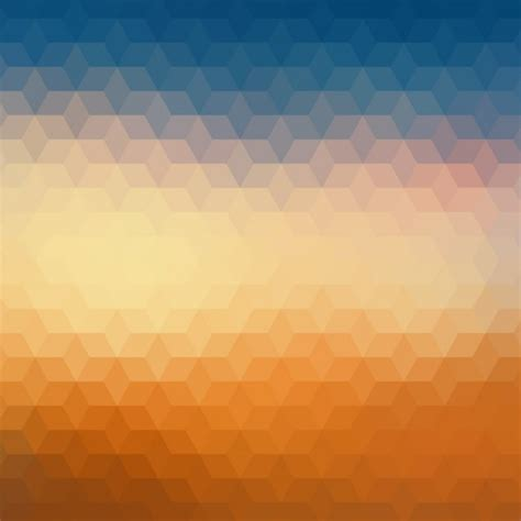 blue and orange geometric background in orange and blue vector free