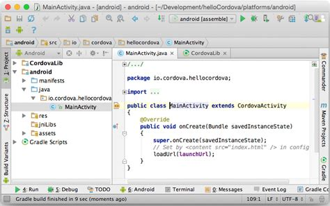 android studio cordova tutorial cordova 4 0 tutorial