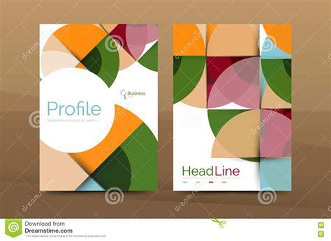 company profile design template vector business company profile brochure template stock vector