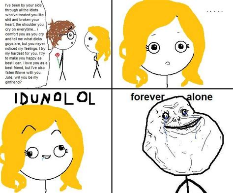 Forever Alone Girl Meme - image 70681 forever alone know your meme