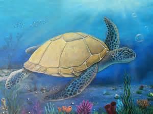 turtles painting painting a sea turtle joe riso
