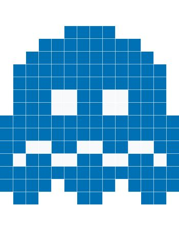 Pacman Wall Stickers pacman blue ghost wall decals stickaz