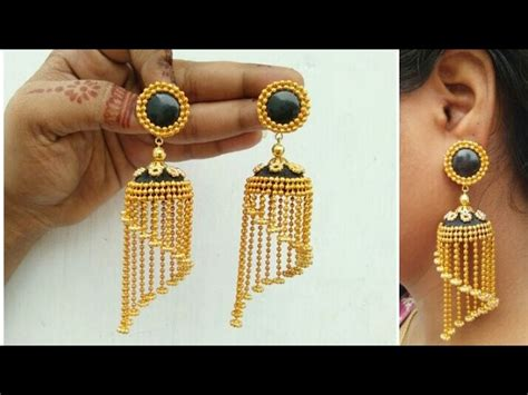 Paper Jewellery Design And Make - how to make designer earrings how to make paper earrings