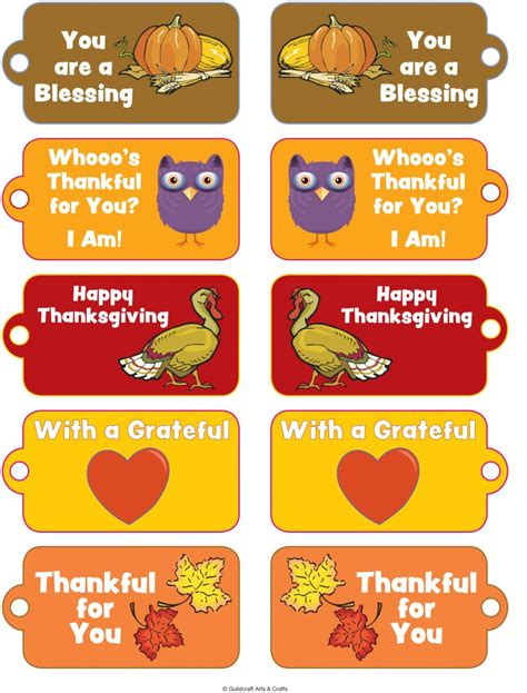 printable thanksgiving tags 6 best images of printable thanksgiving tags free