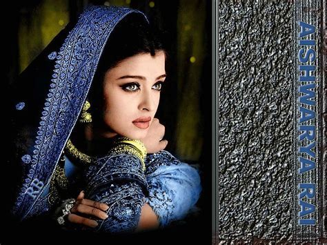 Aishwarya Rai Blue Wedding Saree   SheClick.com