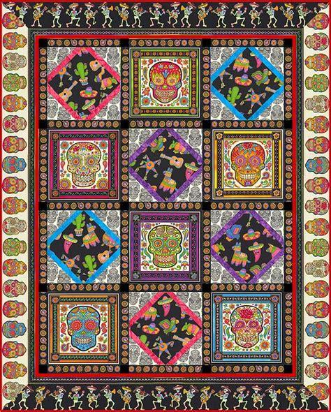 Skull Quilt Pattern by Sugar Skull Quilt Pattern