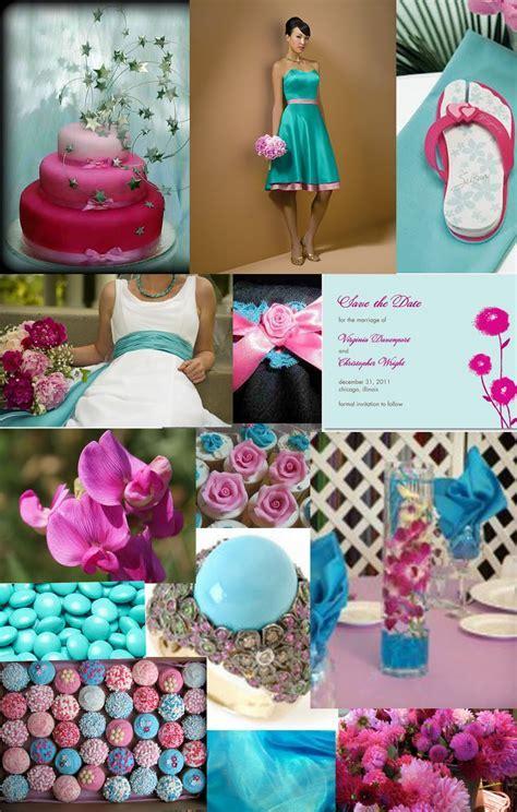 Weddingzilla: Turquoise and Pink Wedding Inspiration Board