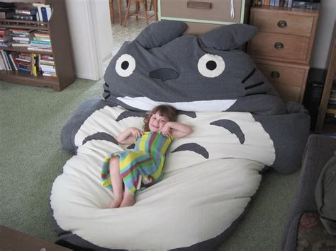 giant pillow bed comfortable bed and sleeping bag totoro home reviews