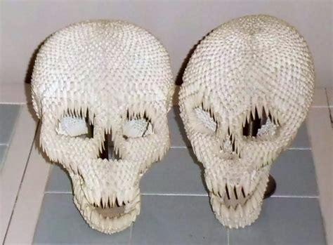 Origami Skull 3d - skulls in 3d origami by dfoosdc on deviantart