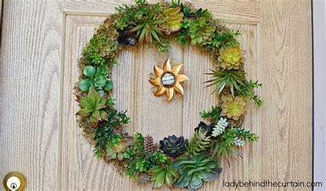 Front Door Wreaths Diy Diy Artificial Succulent Front Door Wreath