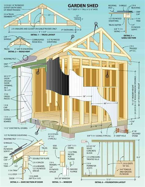 6x8 Shed Plans Free by Shed Construction Plans How To Build Diy By