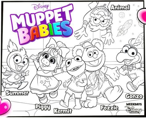 Muppet Babies Coloring Pages by Muppet Babies Characters Coloring Sheet For Best