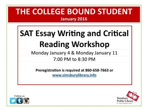 Critical Reading Essay by Sat Essay Writing Critical Reading Workshop At Patch