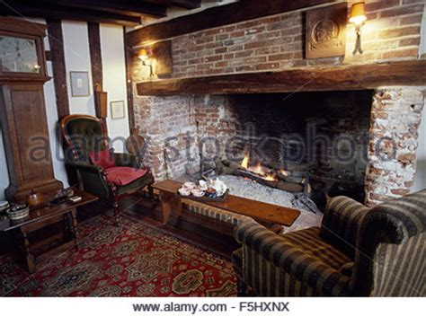 inglenook fireplace in fashioned style