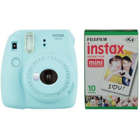 Fujifilm Instax Mini 9 Camera Ice Blue With Instant Film